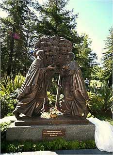 Скульптурная композиция «Святые благоверные Пётр и Феврония Муромские» в г.Сочи