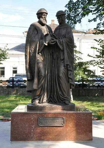 Скульптурная композиция «Святые благоверные Пётр и Феврония Муромские» в г.Тула