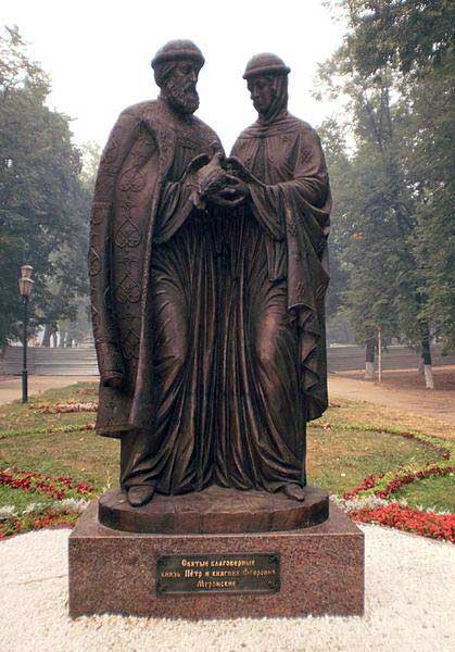 Скульптурная композиция «Святые благоверные Пётр и Феврония Муромские» в г.Ульновск