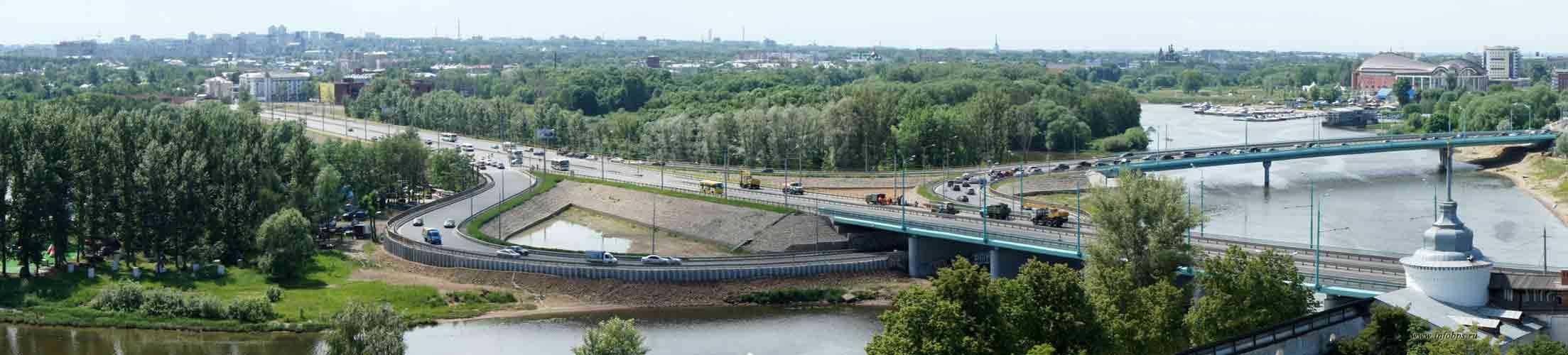 Панорамы города Ярославля - вид со звонницы