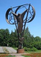 Монумент ликвидаторам чернобыльской аварии. г.Кемерово