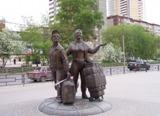 Фото Памятник челнокам в Екатеринбурге