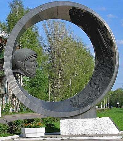 Памятник Юрию Гагарину установлен в г. Коломне