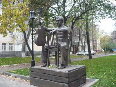 Памятник  Высоцкому В.С. в Воронеже.