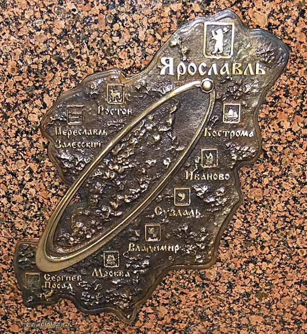 Золотое кольцо России на памятном знаке «Нулевой километр Золотого кольца»