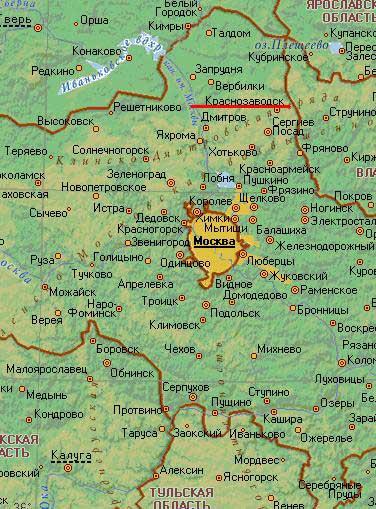 Карта города Краснозаводск