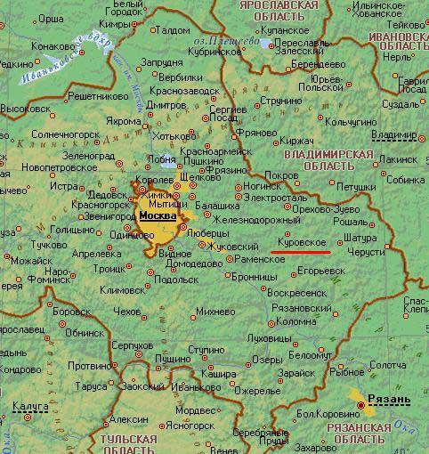 Карта города Куровское
