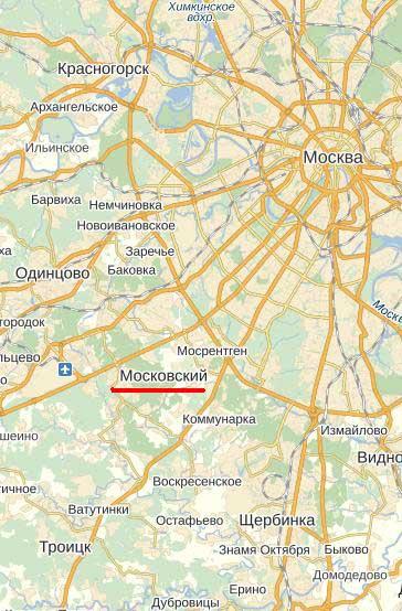 Карта города Московский.