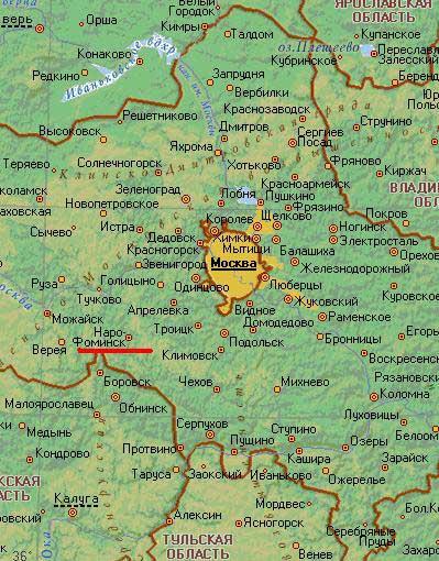 Карта  города Наро-Фоминск.