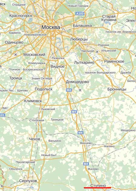 Карта города Ступино.