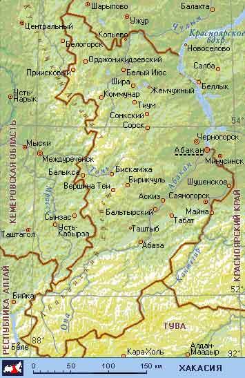 Карта города Абакан