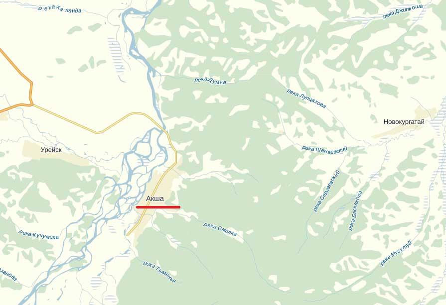 Карта города Акша