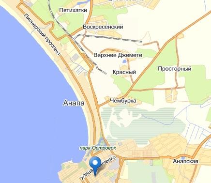 Электронная карта Анапа