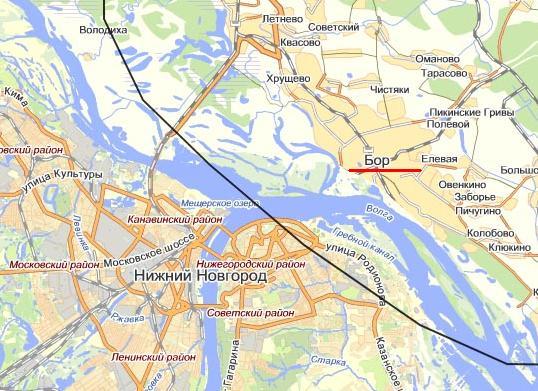 Россия, нижегородская область, мулино - карты googlepng