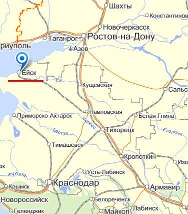 Карта города Ейск