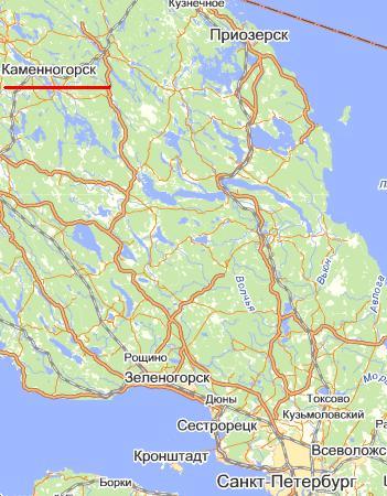 карта города Каменногорск
