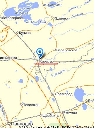 Карта гoрoда Карасук