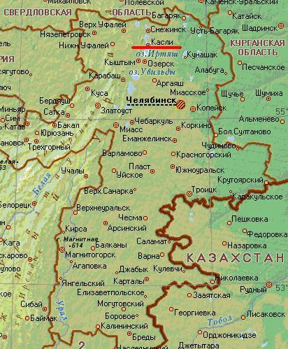 Карта города Касли