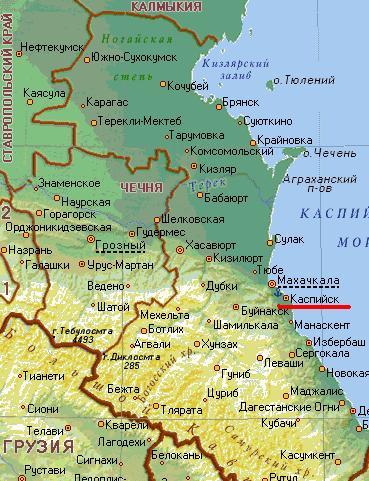 Карта города Каспийск