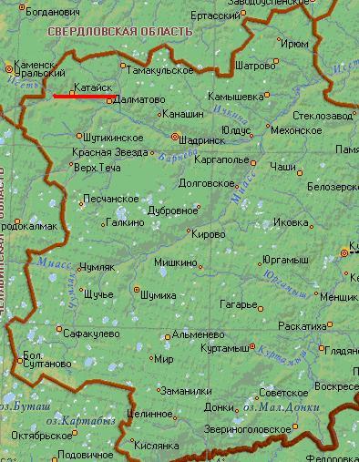 Карта города Катайск