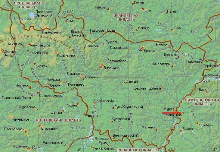 Карта города Муром
