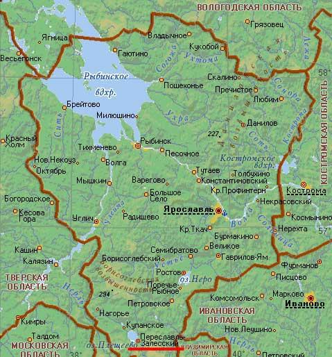 Карта города Переславль-Залесский