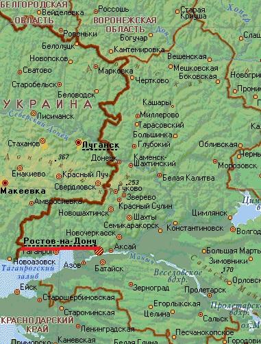 Карта  города Ростов-на-Дону