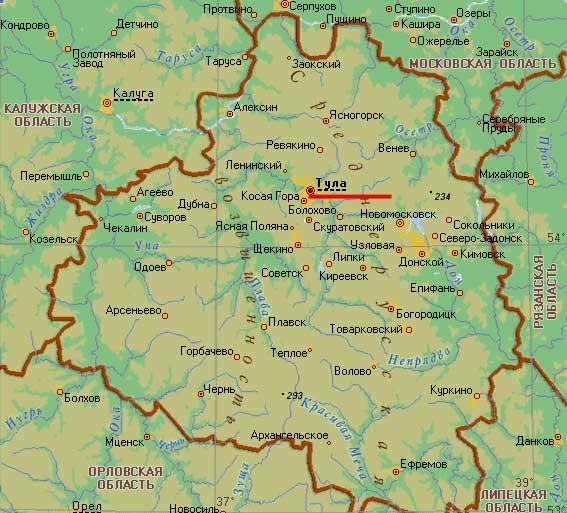 Карта города Тула
