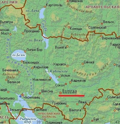 Карта города Вологда