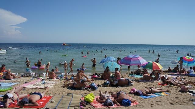 Евпатория. Пляж.