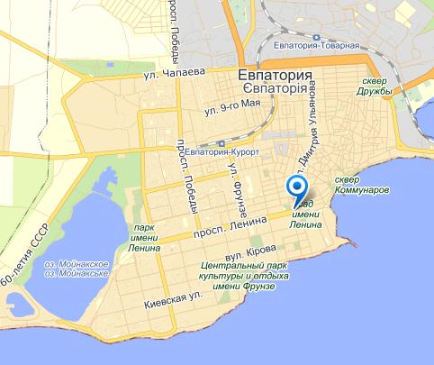 Карта г.Евпатория