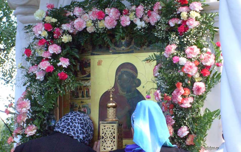 Толгская икона Божией Матери. Кедровая роща в Толжском монастыре.