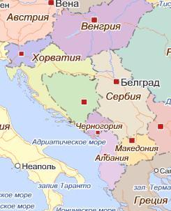 Карта Югославии