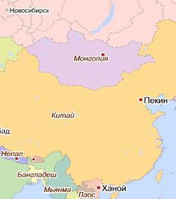 Карта Монголии